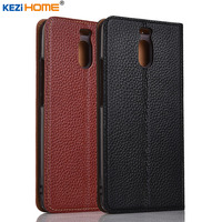 For Meizu M6 Note Case KEZiHOME Litchi Genuine Leather Flip Stand Leather Cover Capa For Meizu