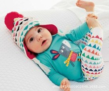 Новый 2017 мальчик одежда детская одежда хлопок письмо печатные с длинным рукавом футболка + брюки 2 шт. костюм девочка одежда наборы
