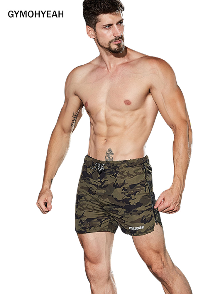GYMOHYEAH NEW Camouflage Shorts Mens Military Style Casual Shorts Men's Summer Beach Shorts New Fashion Streetwear Jogger Shorts