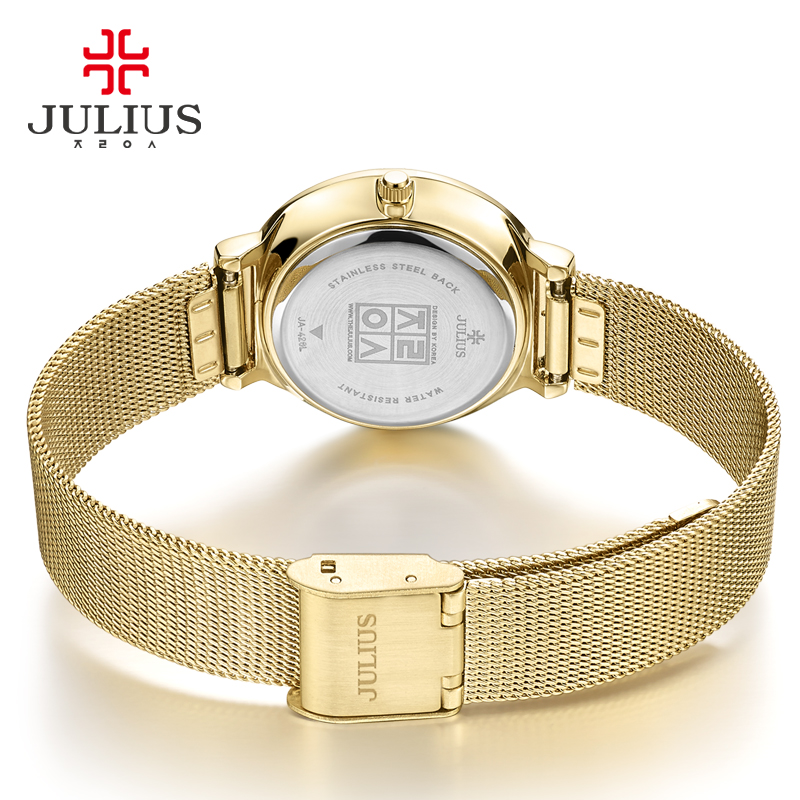 Image 3 - Thin Classic Lady Womens Watch Japan Quartz Girl Hours Fine Fashion Clock Bracelet Stainless Steel Girl Lovers Gift Julius Box-in Womens Watches from Watches on AliExpress