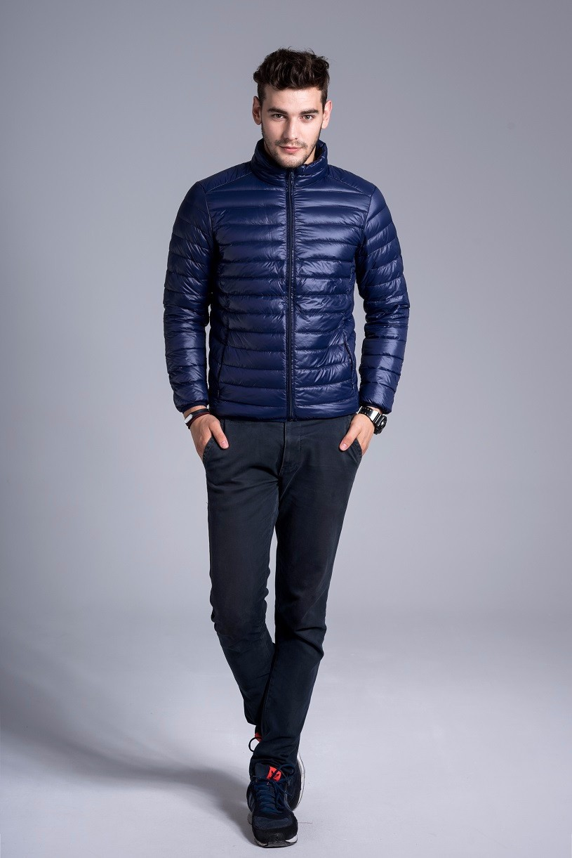Men casual warm Jackets solid thin breathable Winter Jacket Mens outwear Coat Lightweight parka Plus size XXXL hombre jaqueta 12