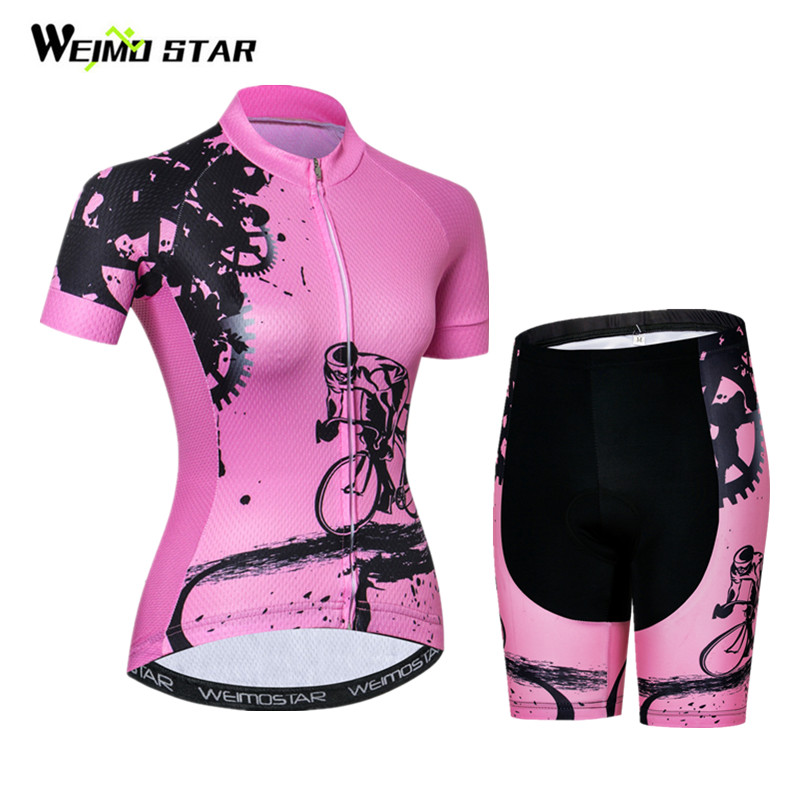 Weimostar Women Cycling Jersey Set pro team Bicycle Cycling Clothing Summer Quick Dry mtb Bike Jersey Wear Clothes Ropa Ciclismo jd коллекция default дефолт