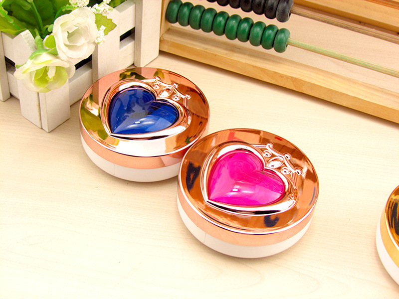 LIUSVENTINA 2018 New  Cute Rose Gold Five-pointed Star Contact Lens Case Box Container For Color Lenses Gift For Lovers