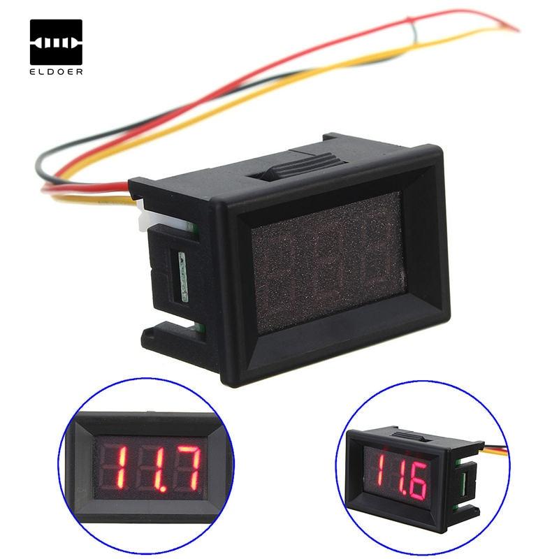 DC 0-30V 3 Wire LED Display Digital Voltage Meter Voltmeter Panel For Car Motor Red
