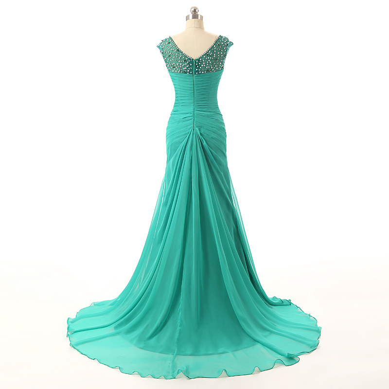 Solovedress Elegant Арзан Green Mermaid ұзын кешкі - Ерекше жағдай киімдері - фото 3
