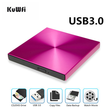Laptop With Cd Rom | KuWFi USB3.0 External DVD Burner DVD Reader CD-ROM Player Optical Drive For MAC OS/MacBook,/For Apple Laptop WIN 10/8/7/XP/linux