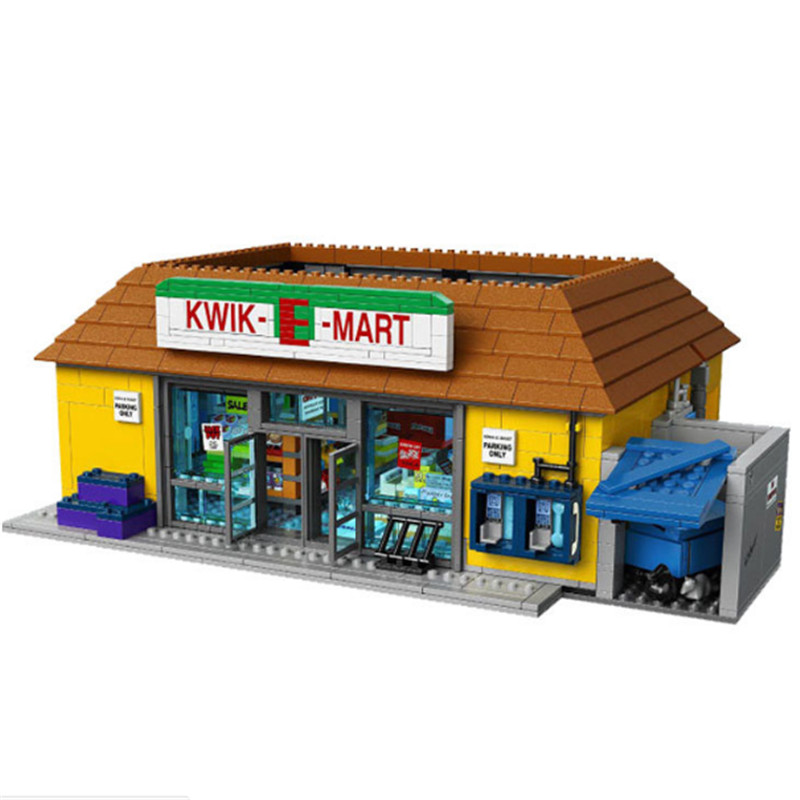 LEPIN 16004 2232Pcs Simpsons KWIK-E-MART Action Model Educational Building Block Bricks Compatible 71016 Toys for Children Gift