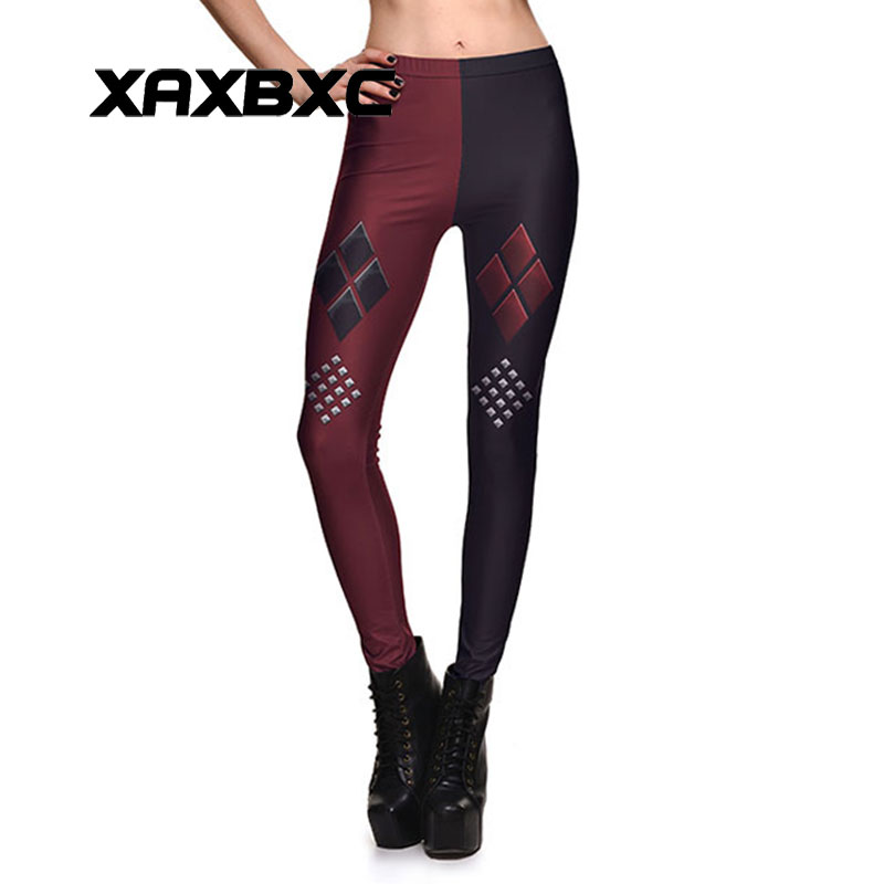 New Arrival 3753 Sexy Girl Batman Suicide Squad Harley Quinn Printed Elastic Fitness Polyester Workout Women Leggings Pants