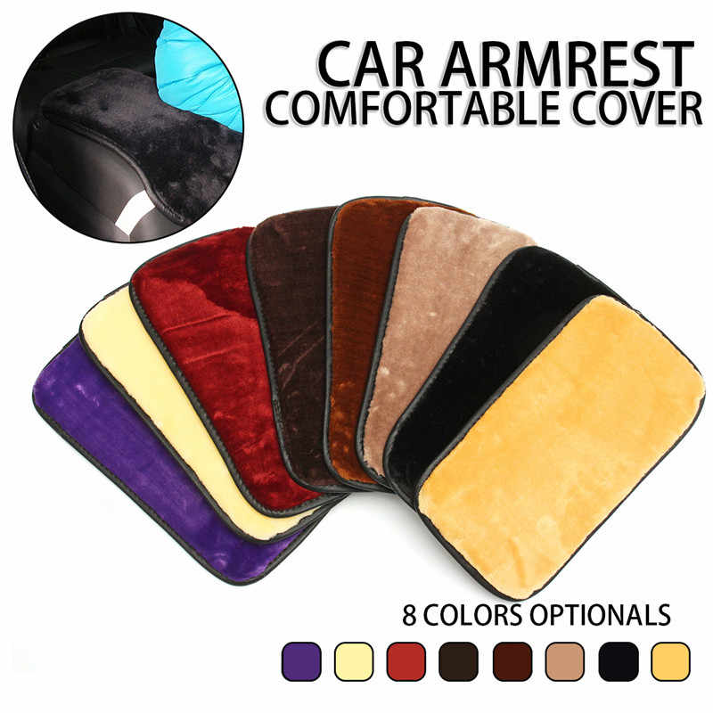 1Pcs Car Armrest Box Pad Cover PU Leather Auto interior Arm Rest Seat Covers Soft Pad