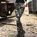 2016 мода Карандаш брюки Военный Камуфляж Узкие Брюки Тонкий Оборудованная Повседневные Брюки и Капри женщины Армия Стиль GK-995B
