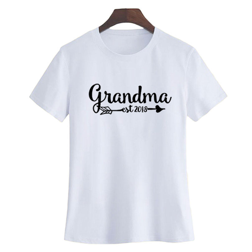 029d71c3 Pregnancy Announcement Grandma T shirt Est Since 2018 Funny Saying Letters  Printing Tshirt Women Fashion Gift T Shirt-in T-Shirts from Women's  Clothing ...