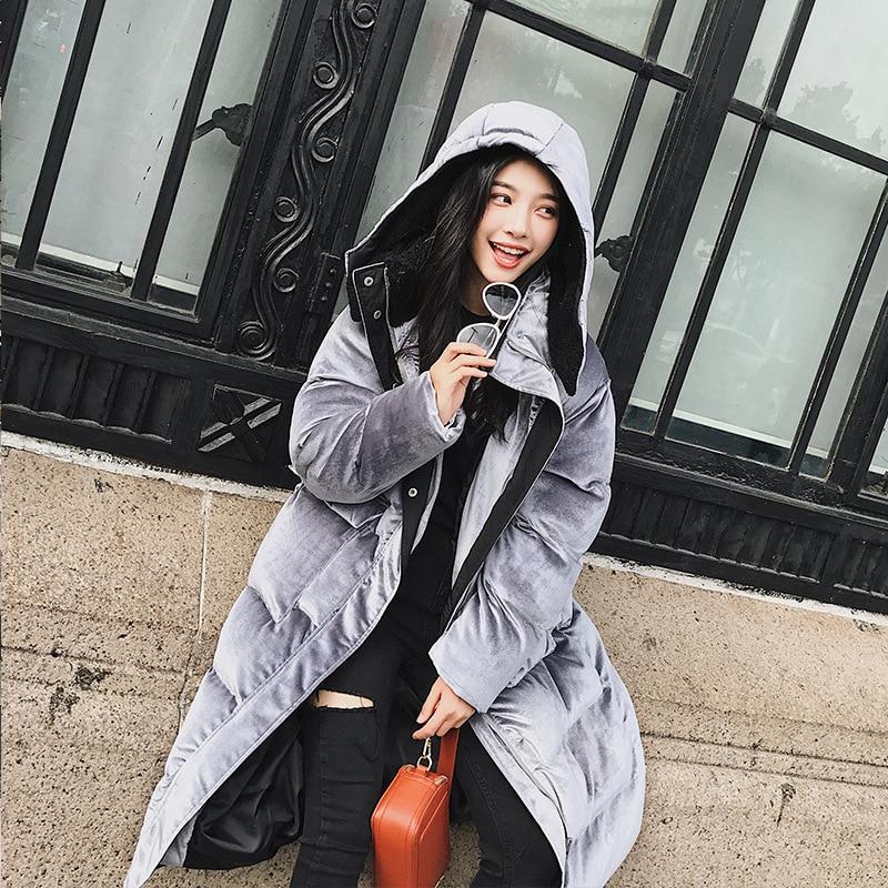 Coton Solide Cw117 The Épaississent Long De Lâche Veste Manteau Mode Capuchon Femmes D'hiver 2019 En Picture Taille D'origine À Nouvelles Parka As Grande Chaud cARS354jLq