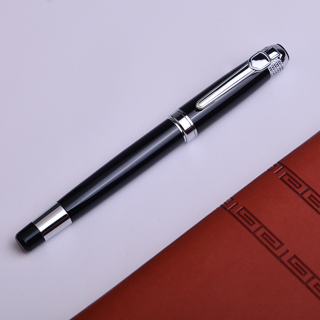 Silver black Monte Roller ball Pen send a refill School Office supplies ball pens high quality send friend business gift 088 3