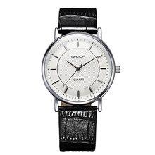 Бренд Классической Моды Ультра-Тонкие Случайные Бизнес Часы мужской Кварц Часы Мужчины Кожаный Ремешок Наручные Часы Водонепроницаемые