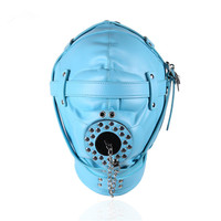 NEW BDSM Bondage Restraint Sex Toys Headgear With Gag Erotic PU Leather Hood Mask Adult Games Sex SM Mask For Couples