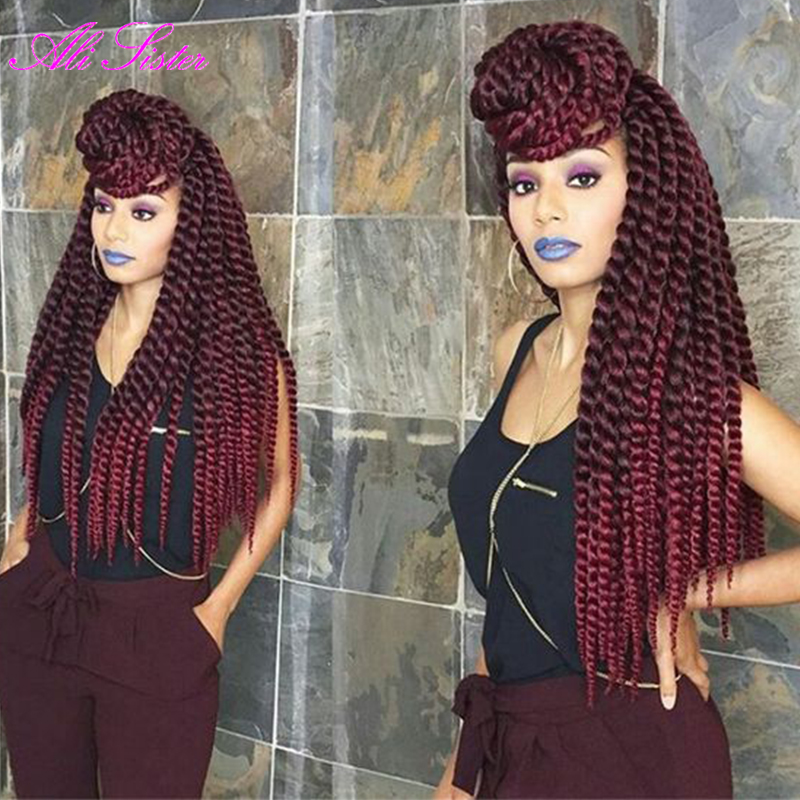 Image result for red crochet braids