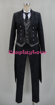 Black Butler Cosplay Book of Circus Sebastian Michaelis Cosplay Costumes