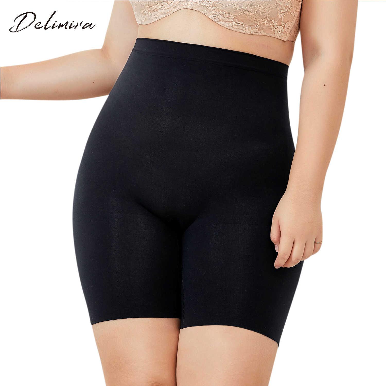 3c5eea151690 DELIMIRA Women's Plus Size Tummy Control Panties Thigh Slimmer Shapewear  Shorts Body Shaper