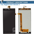 Original LCD Display with Touch Screen Digitizer Assembly For Highscreen Boost 3 Boost3 Free Shipping