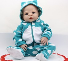 23 Inch Lifelike Reborn Babies Doll Handmade Full Silicone Vinyl Doll Newborn Baby Boy So Truly Kids Birthday Xmas Gift