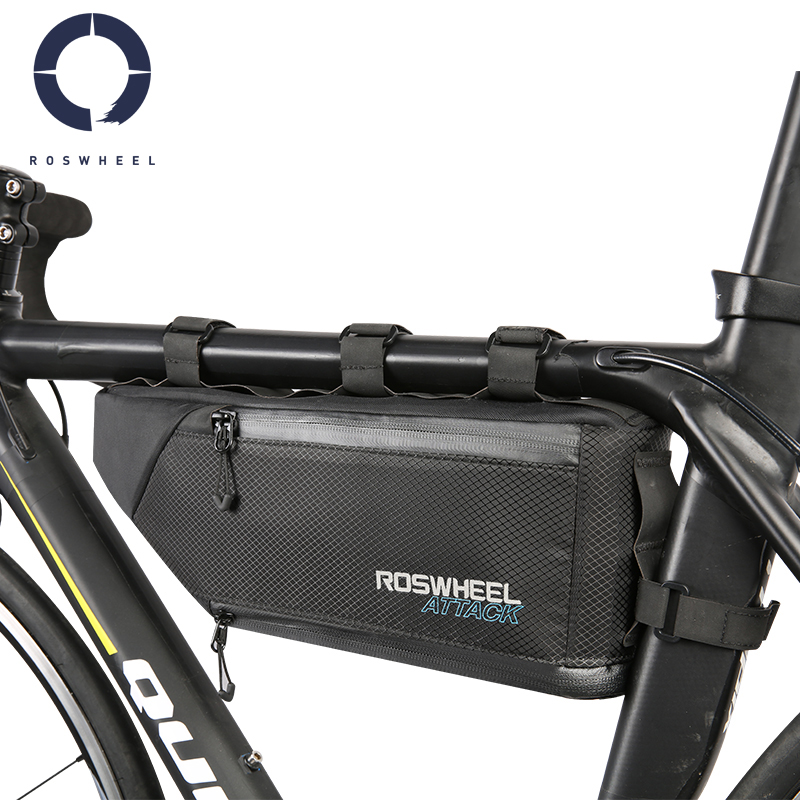 Roswheel 4L Expandable Large Capacity Bicycle Cycling Bike Front Frame Top Tube Triangle Bag Pannier ATTACK Series 121371