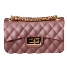 Summer Sweet Girls Cute Jelly Handbag Bolsas Shoulder Bag Mini Crystal Clutch Bags With Candy Color