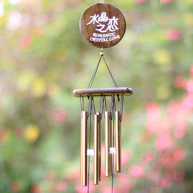 Good Metal Wind Chimes Outdoor Living Yard Garden Copper Tubes Bells Birthday  Gift Home Decoration Ornaments