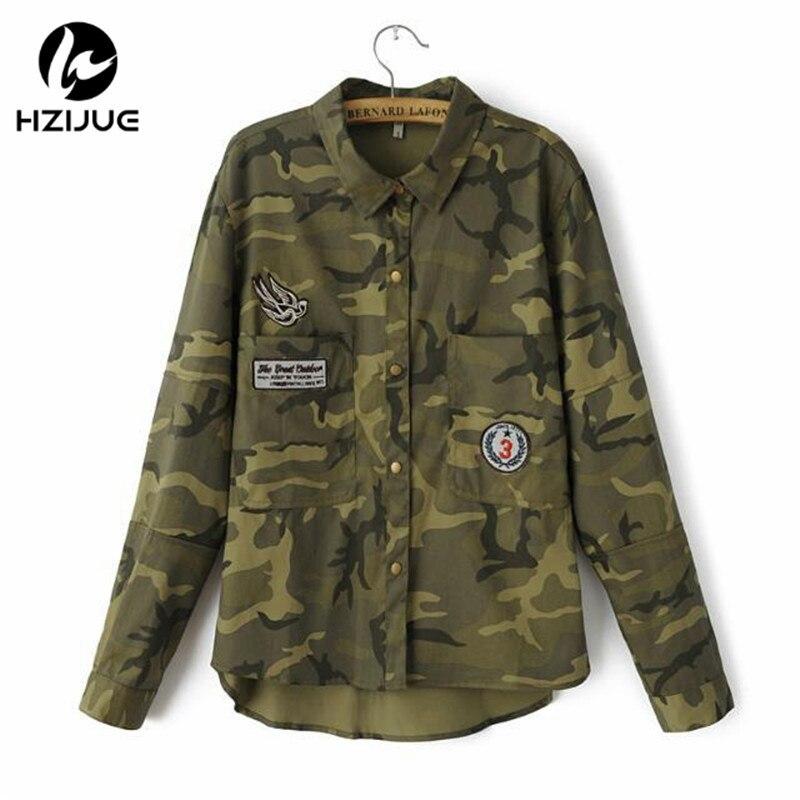 tienda de liquidación 963d1 c652b Womens shirt Long Sleeve chaqueta militar Coat Women Green ...