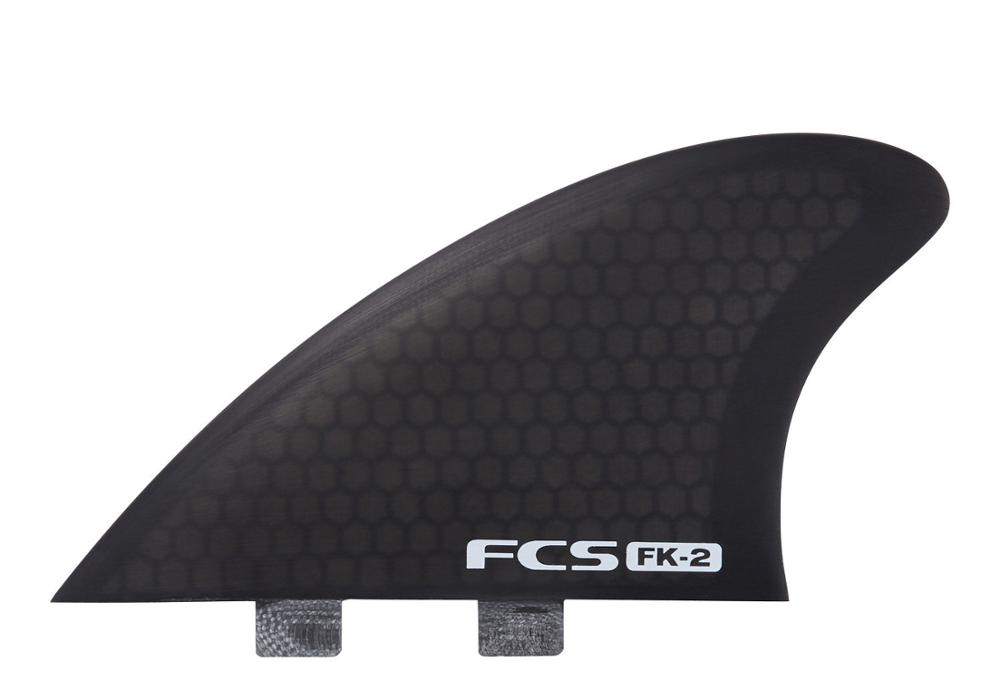 FCS FK 2 PC FISH KEEL TWIN FINS SMOKE