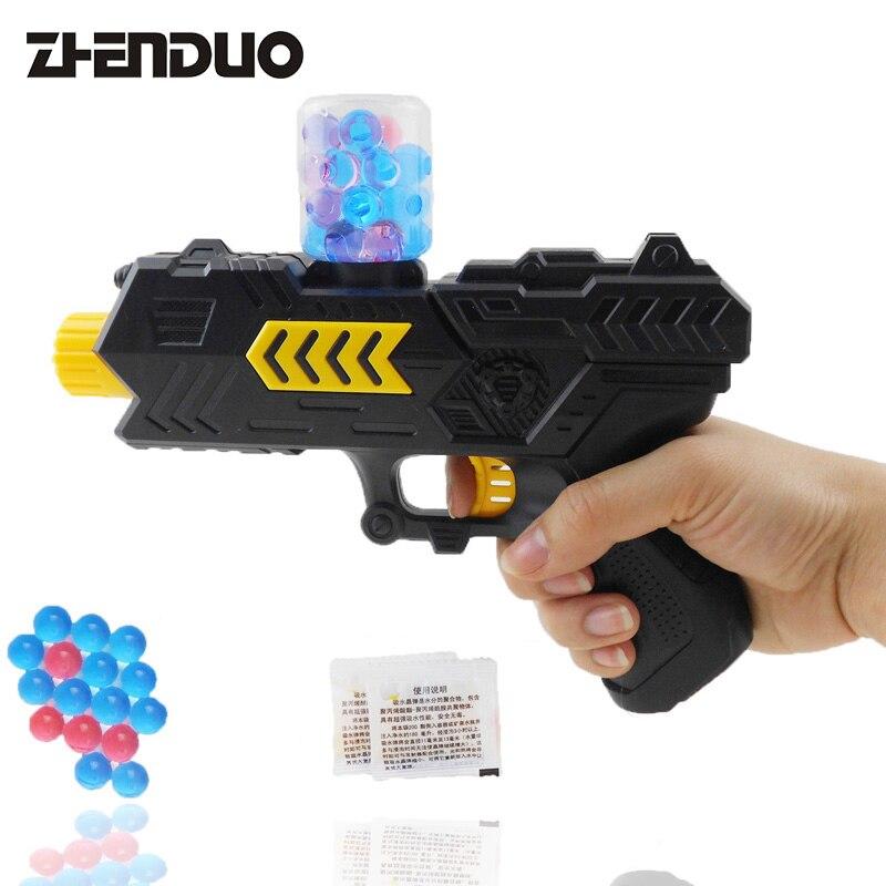 ZhenDuo juguetes al aire libre tiro batalla juguete 2-en-1 Gel bola pistola de Agua Bomba