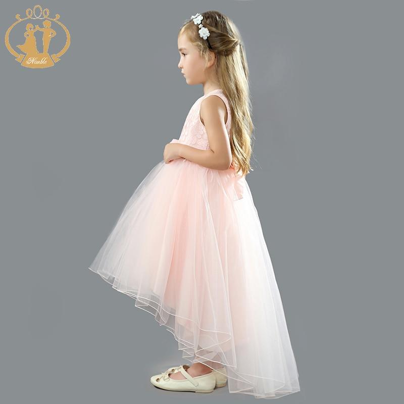 14402a688 Ágil vestido de las niñas de flores de Organza Jacquard cola vestido de princesa  para las niñas vestidos vestido infantil niños vestidos para niñas en ...