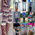 12 Colors Best Ladies Aztec Leggings Skinny Printed Stretchy Tribal Jegging Pencil Pants
