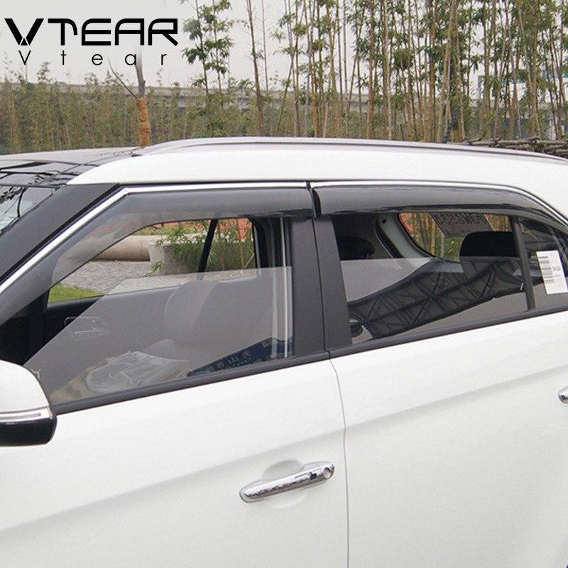 Vtear For Hyundai Creta ix25 window visor Windows side Sun Rain Protection Shield Exterior body decoration