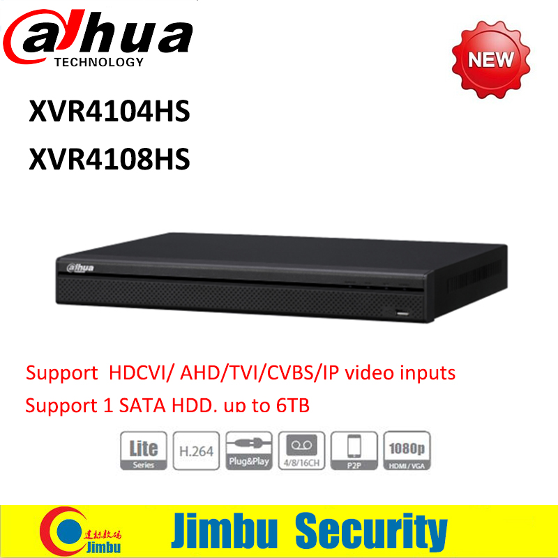 Dahua XVR video recorder XVR4104HS XVR4108HS 4ch/8ch 720P Support HDCVI/ AHD/TVI/CVBS/IP video inputs 1 SATA HDD, up to 6TB келли кл 4104 6 предметов нж кастрюли