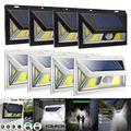 4 paket 74 COB LED Solar Motion Sensor Licht Im Freien Wasserdichte Solar Lampe Garten Treppen Gang Lichter Schwarz/Weiß luces Solares|Solarlampen|   -