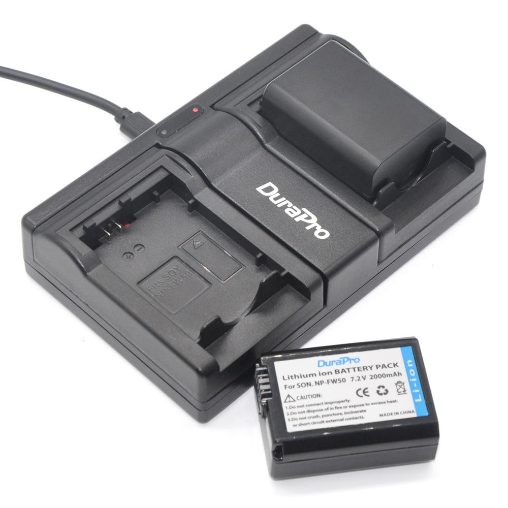 2 pcs 2000 mah NP-FW50 FW50 NP FW50 Caméra Li-ion Batterie + Double Chargeur pour Sony NEX-5 NEX-5A NEX-5C NEX-5D NEX-5DB Alpha 7R II