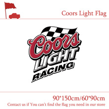Free shipping Coors Light Beer Sports Bar Flag White 3x5ft Polyester Banner Flying 150* 90cm 60*90cm