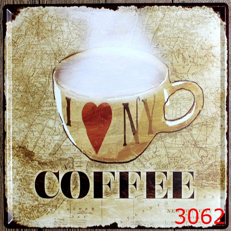 For Plaquesamp; Retro Sign Art Hot Poster Signs Decor Wall In Vintage Coffee Tin Metal From Home Us9 Plaqueplate 9930x30cm PXw80knO