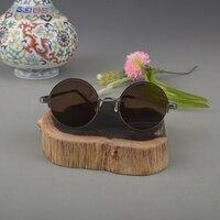 Velha Xangai República cristal natural óculos de armação dos óculos de sol de cobre puro