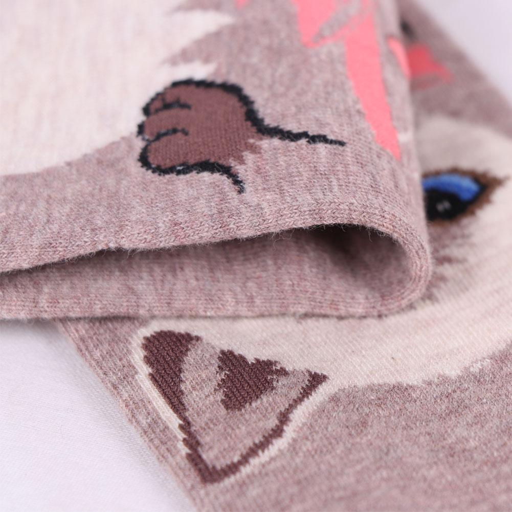 Women Socks Funny Cute Cartoon Cat Happy Japanese Harajuku Skateboard Socks Fashion Teens in Socks from Underwear Sleepwears