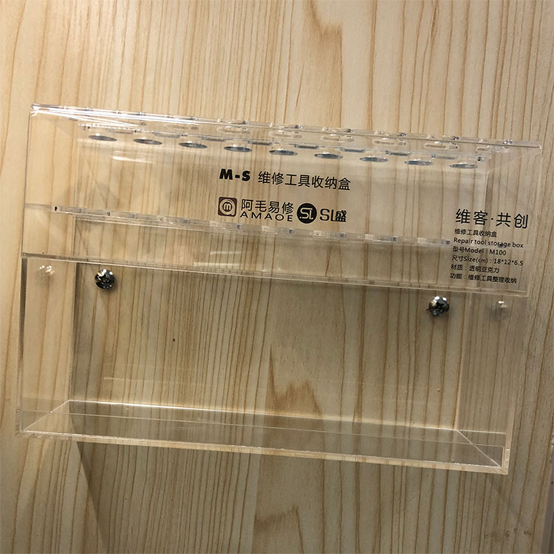 Tools : Plastic Storage Box Mobile Phone Computer Repair Tool Storage Box Screwdriver Carving Knife Solder Paste Sorting Storage Box