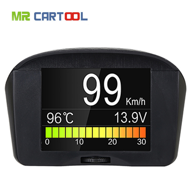 AUTOOL X50 Hud Head up Display Auto OBD Gauge Digital Spannung Meter Tachometer Geschwindigkeit Display Multi-Funktion Alarm Fehler code TPMS