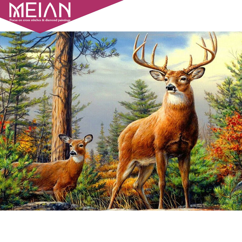 Meian 5d diy full diamond painting sale diamond embroidery - Home interior deer pictures for sale ...