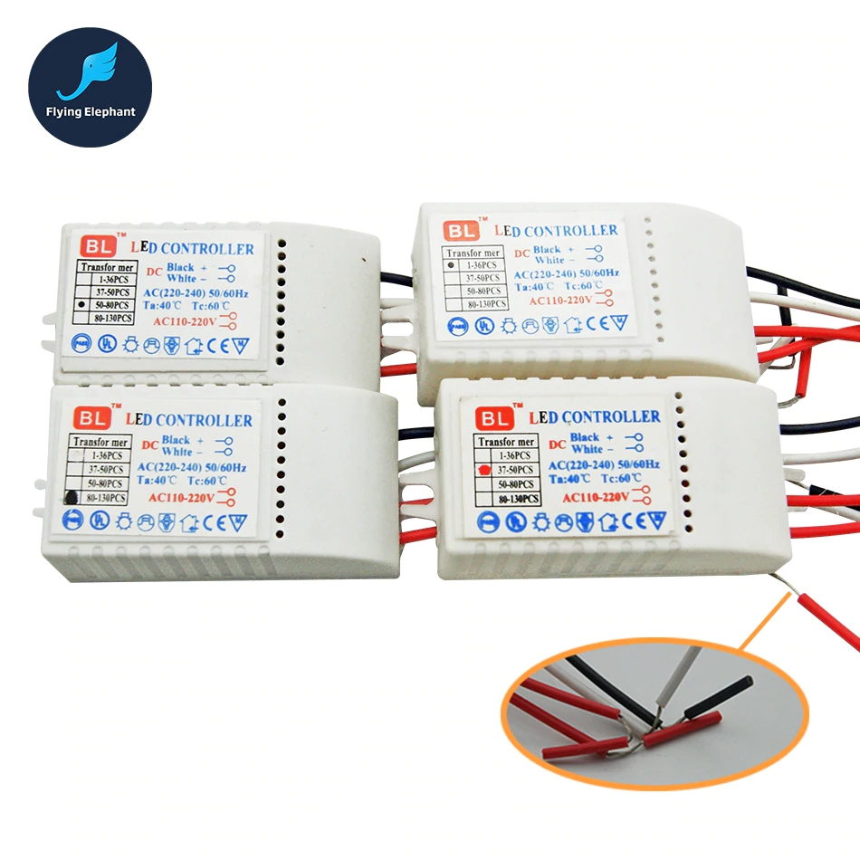 LED Controller Drive 1 130 pcs AC220V LED Transformer Power Supply  LED Beads DC3V Output Low voltage straw hat Lamp-in Lighting Transformers from Lights & Lighting