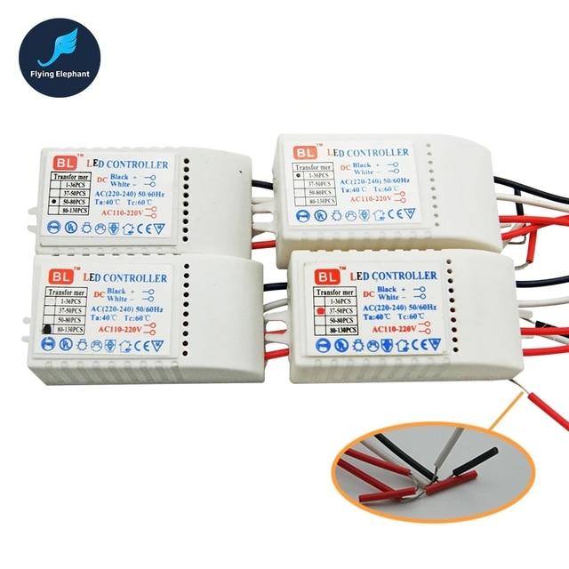 LED Controller Drive 1 130 pcs AC220V LED Transformer Power Supply  LED Beads DC3V Output Low voltage straw hat Lamp