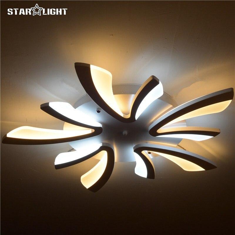 flush mount modern light for living room acrylic bicolor light guide plate chandelier avize home lighting cheap home lighting