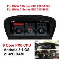 Android 8,1 Системы 6 ядро PX6 Процессор 2 + 32G автомобиль радио мультимедиа плеер для BMW 5 серии E60 E61 E63 E64 E90 E91 E92 CCC CIC Системы