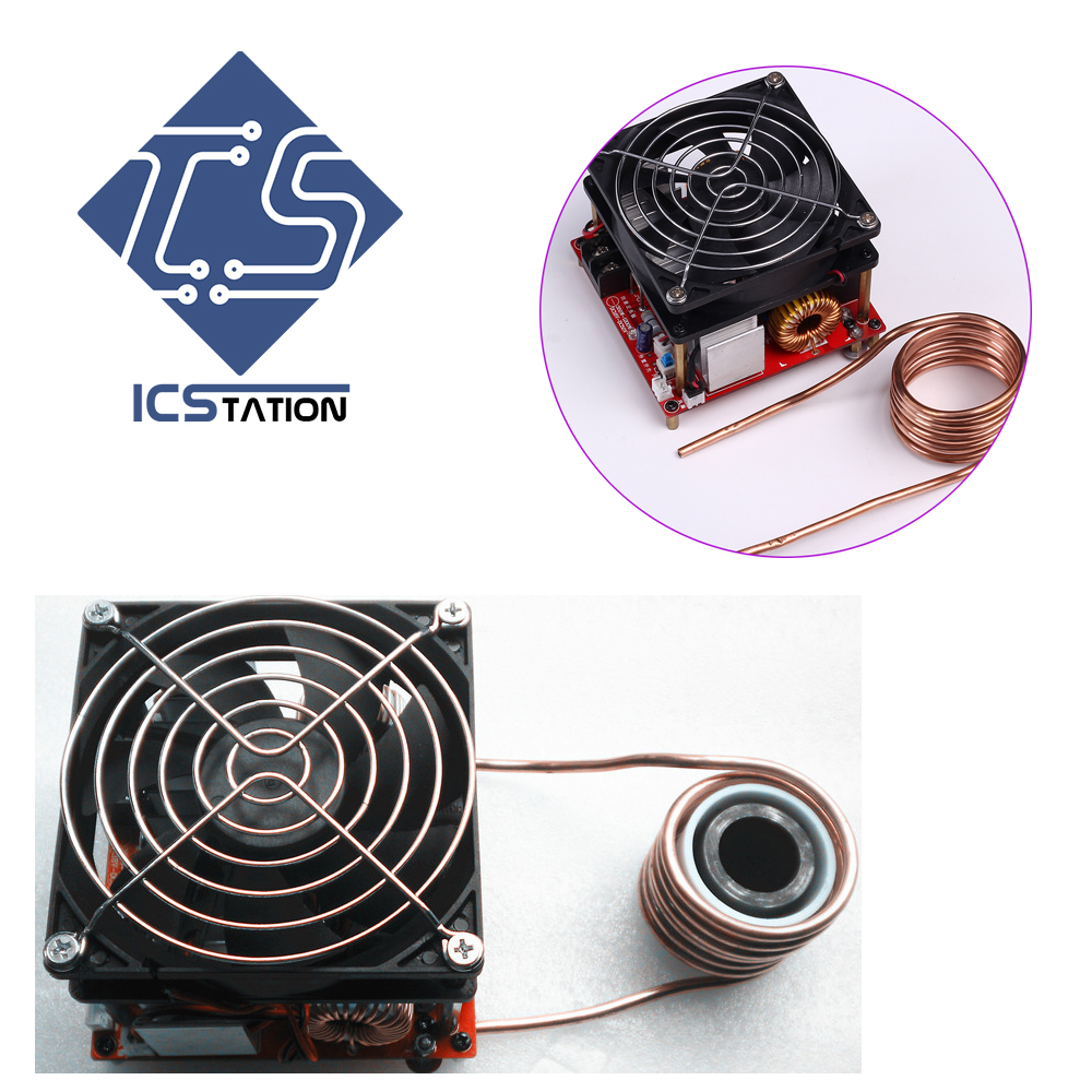 1200W ZVS Low Voltage High Frequency High Voltage Generator W Ignition Coil Precise DC 18 50V