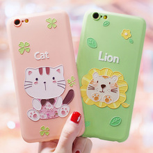 Cute animal huge relief Emboss Case For Iphone XS MAX X XR 6 6s 7 8 Plus cover Girls Women Liquid silicone case