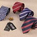 High-end мужская мода дизайнеры жаккард полосатый пейсли 7 см полиэстер шелковые галстуки для мужчин 1200 иглы 100 шт./лот fedex